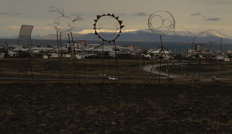 Iceland-Reykjavik-Figures-Metal