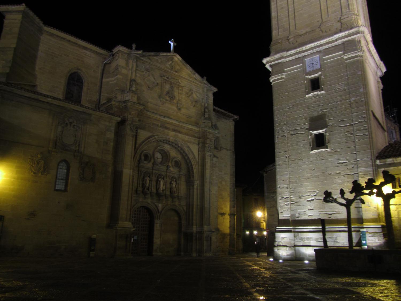 Camino-De-Santiago-Sights-And-Scenery-Plaza-Night