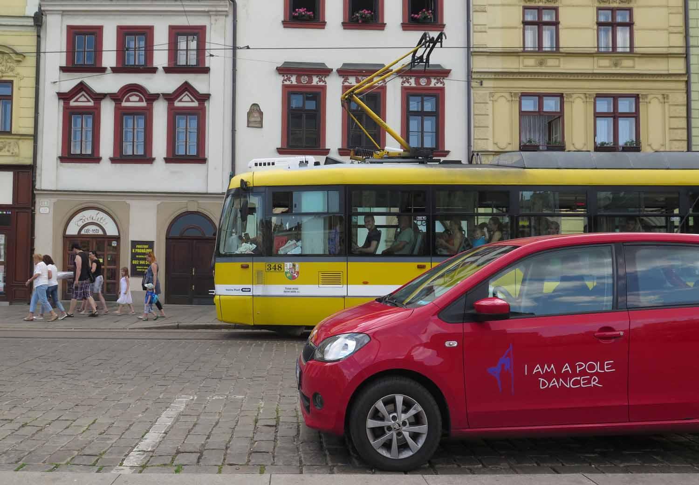 czech-republic-plzen-tram-pole-dancer