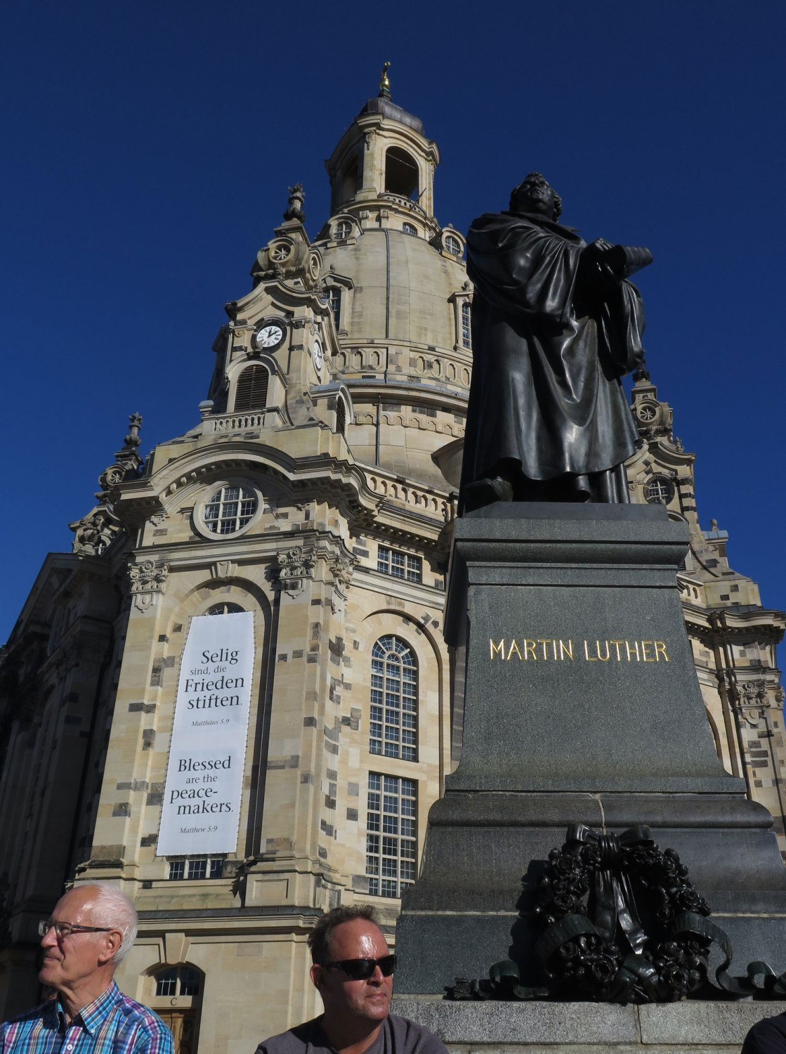 Germany-Dresden-Frauenkirche-Martin-Luther-Tourists