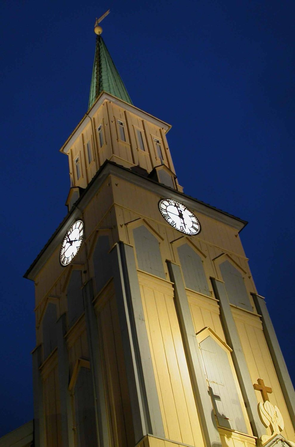 Norway-Tromso-Clock-Tower