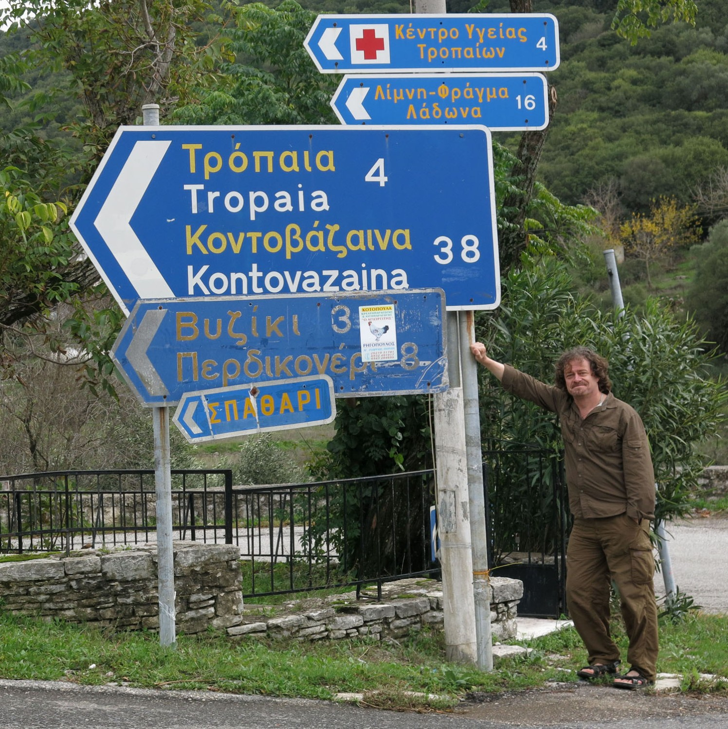 Greece-On-The-Road-Signs