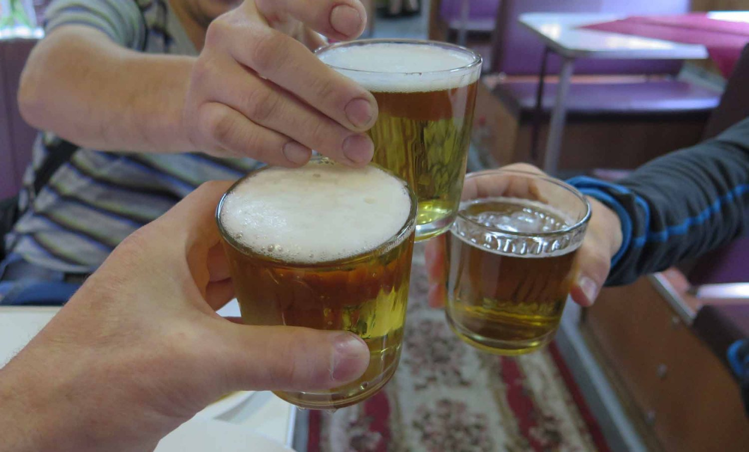Russia-Trans-Siberian-Railway-Food-And-Drink-Beer-Cheers
