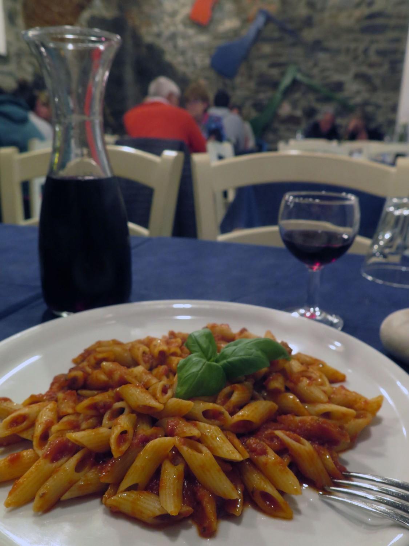 Italy-Cinque-Terre-Food-And-Drink-Pasta-Vino