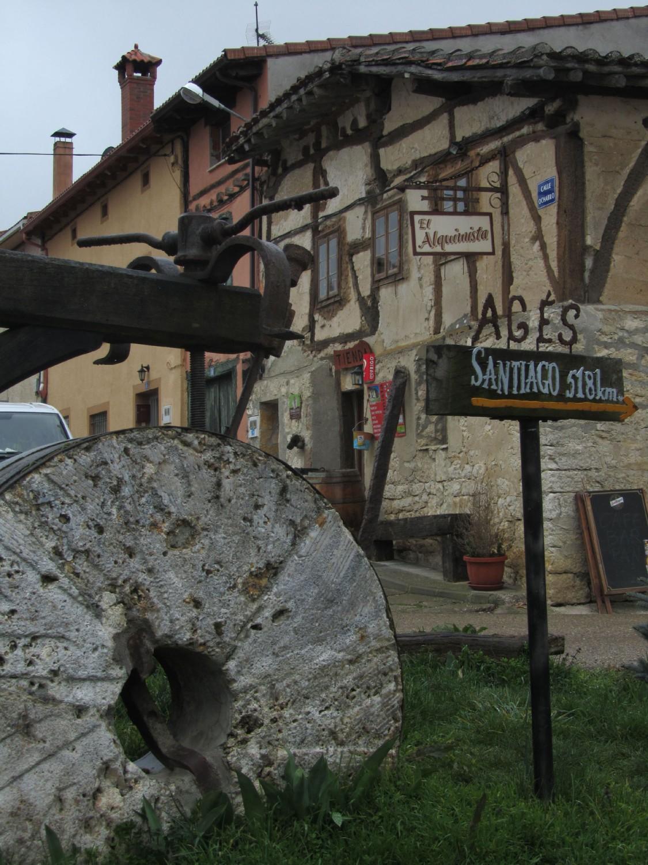 Camino-De-Santiago-Sights-And-Scenery-Grinding-Wheel