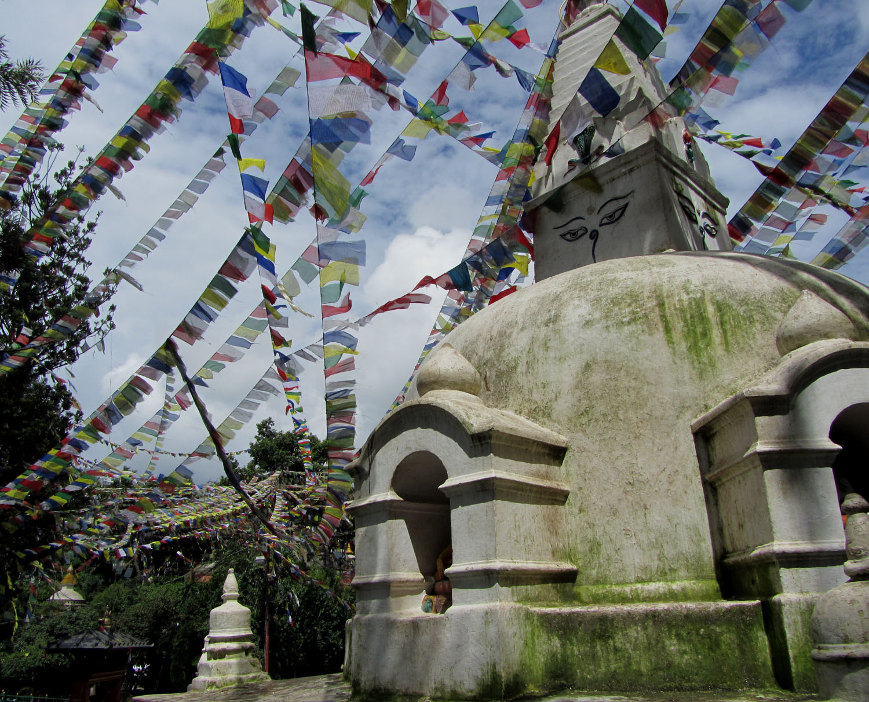 Nepal-Kathmandu-Monkey-Temple-Prayer-Flags