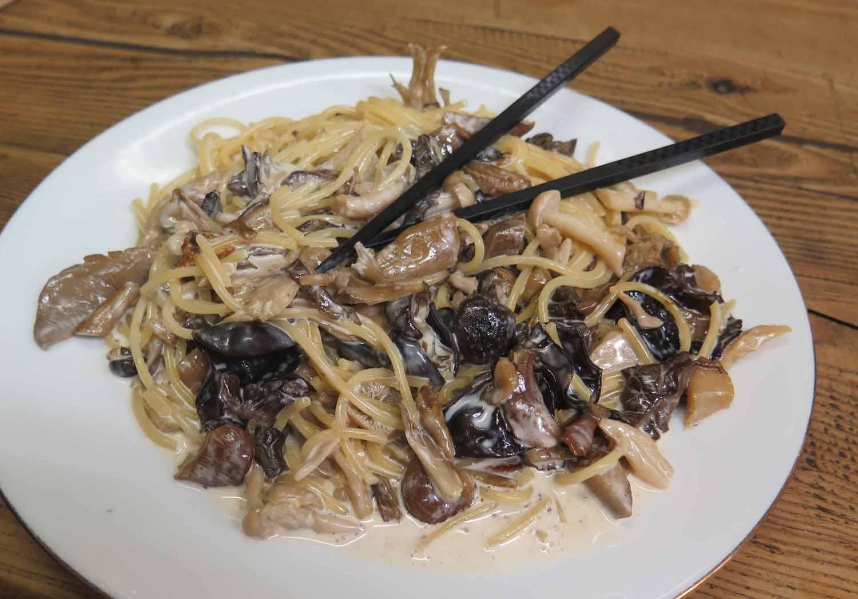 Japan-Tokyo-Food-And-Drink-Spaghetti-Mushrooms