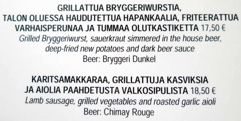 Finland-Helsinki-Menu