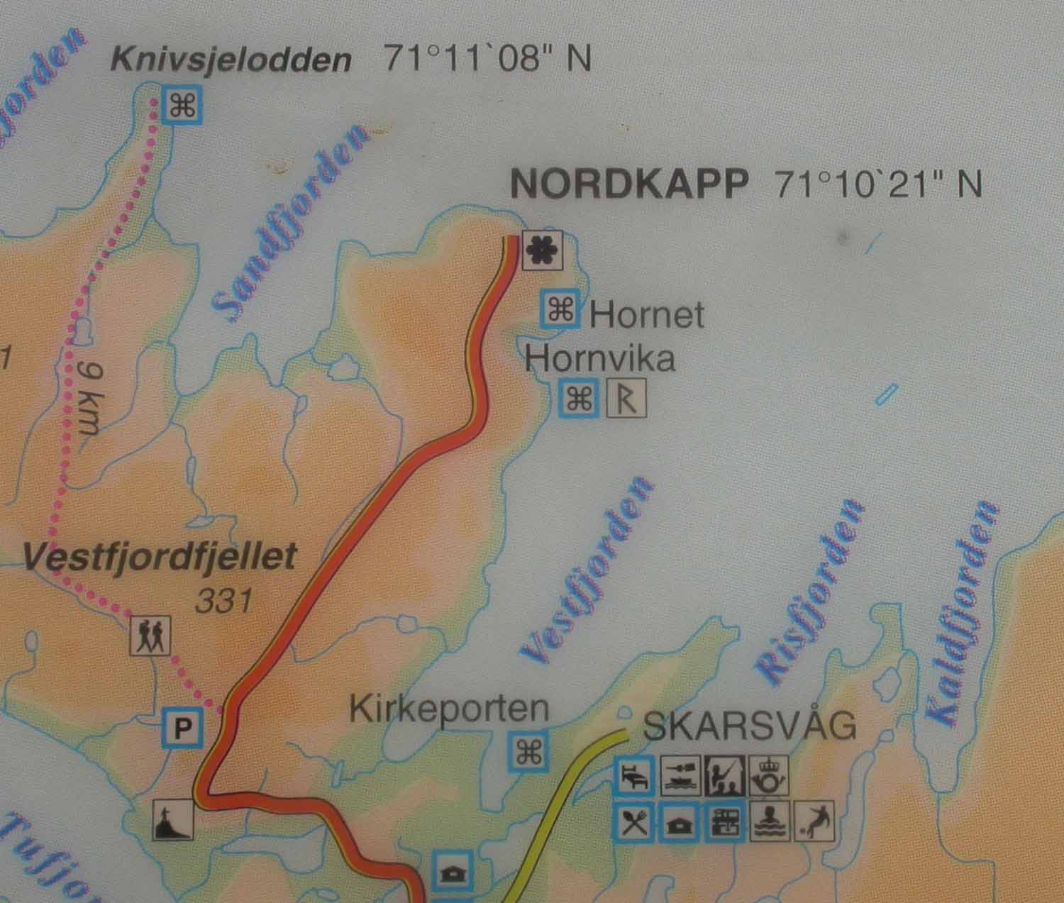 Norway-Nordkapp-Map