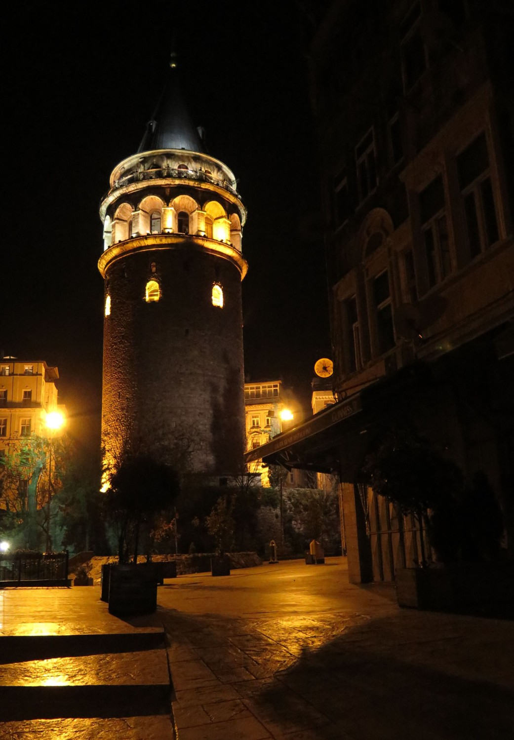 Turkey-Istanbul-Galata-Tower-Night