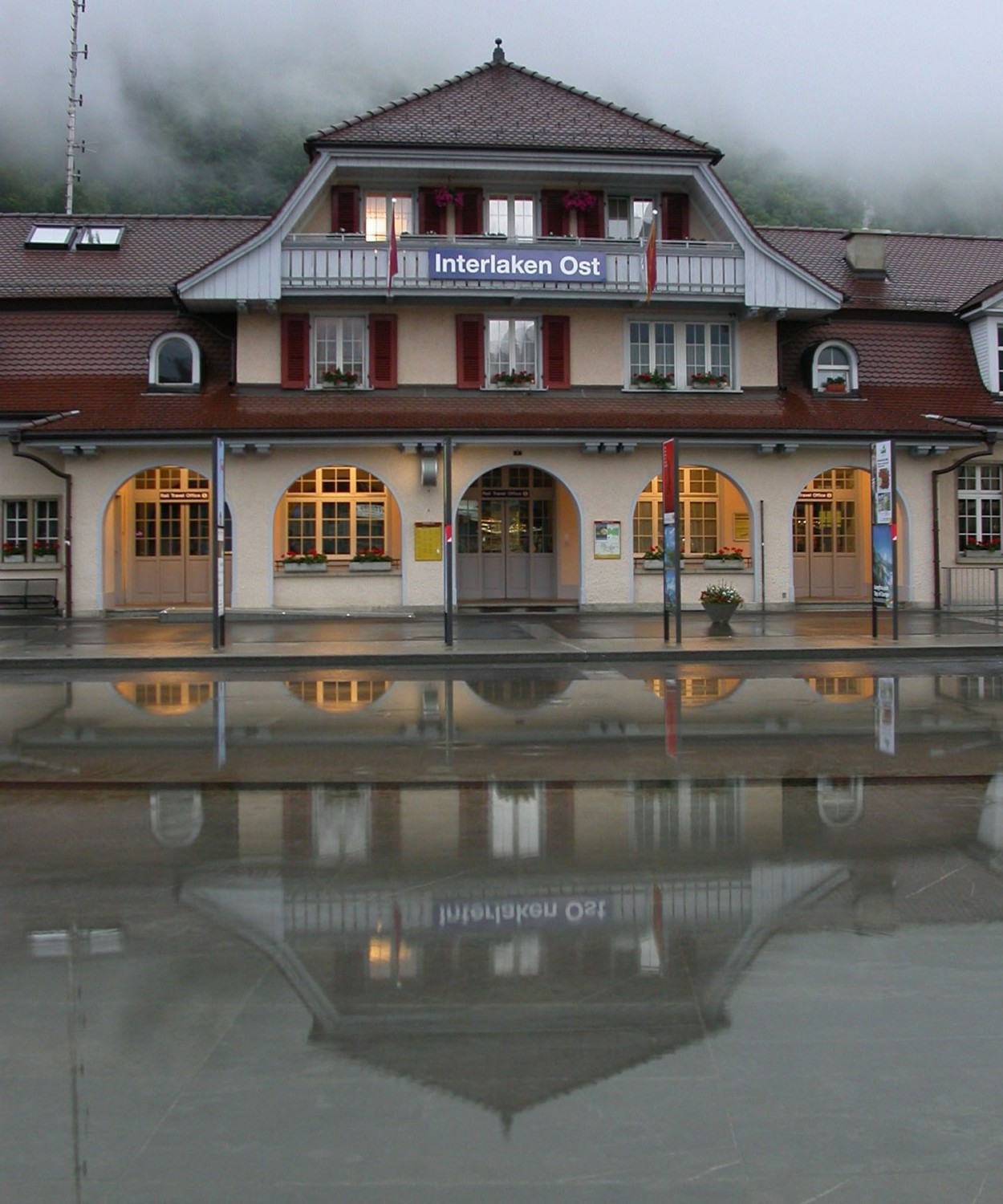 Switzerland-Bernese-Oberland-Interlaken-Ost-Train-Station