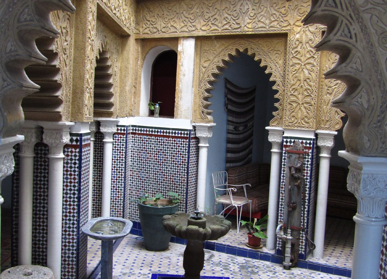Morocco-Tangier-Hotel-Continental-Fountain