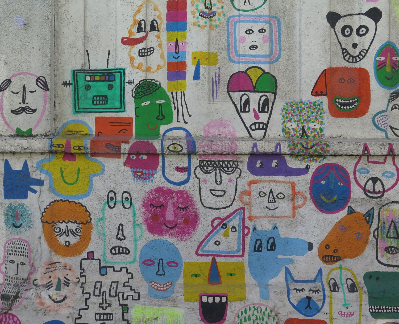 Croatia-Zagreb-Street-Scenes-Mural