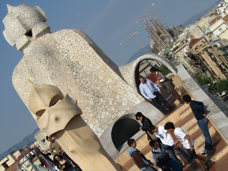 Spain-Barcelona-Gaudi-Casa-Mila