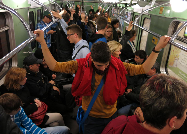 Hungary-Budapest-Metro-Passengers