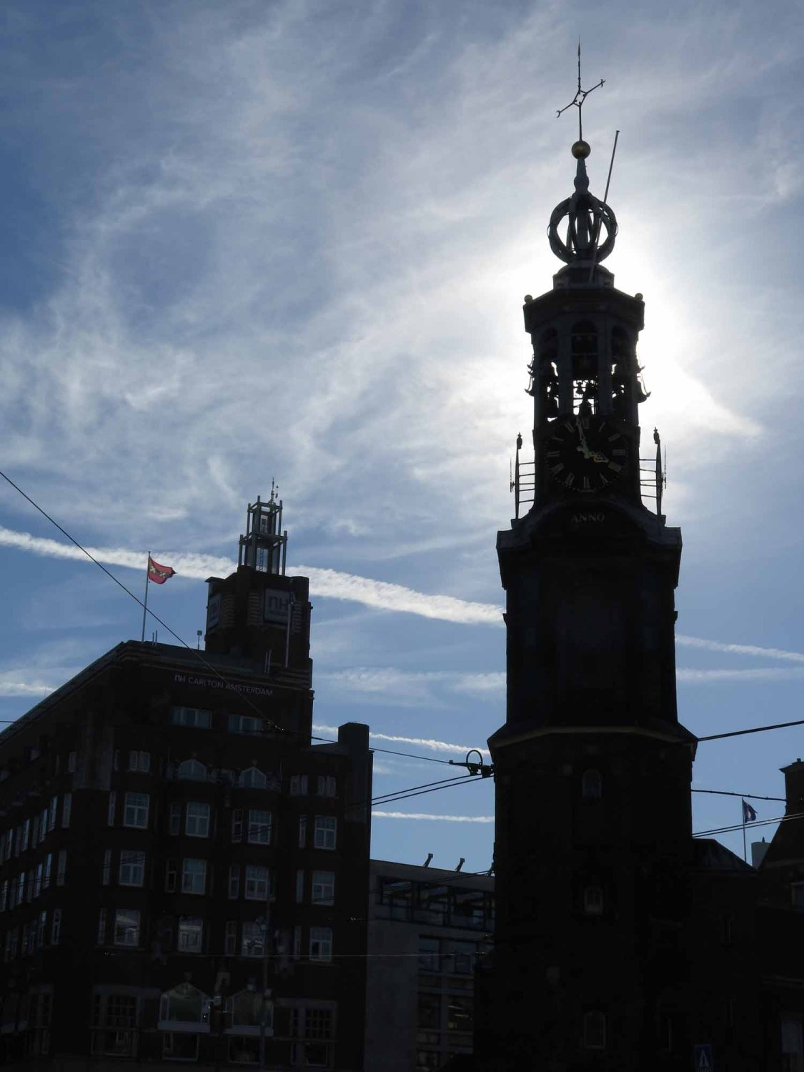 Netherlands-Amsterdam-Steeple-Silhouette