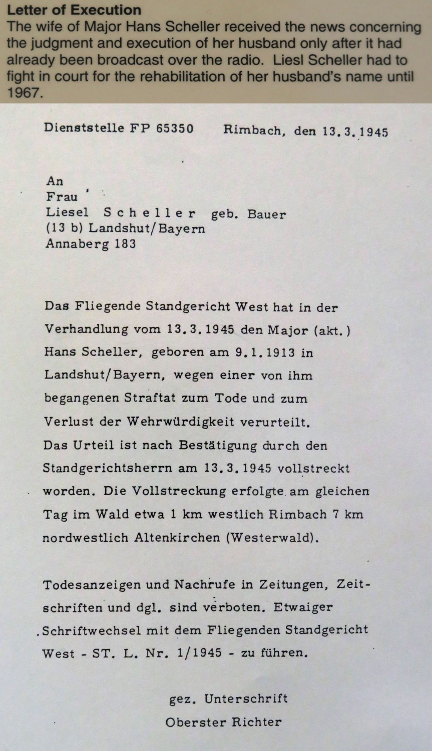 Germany-Bridge-At-Remagen-Peace-Museum-Hans-Sheller-Letter-of-Execution