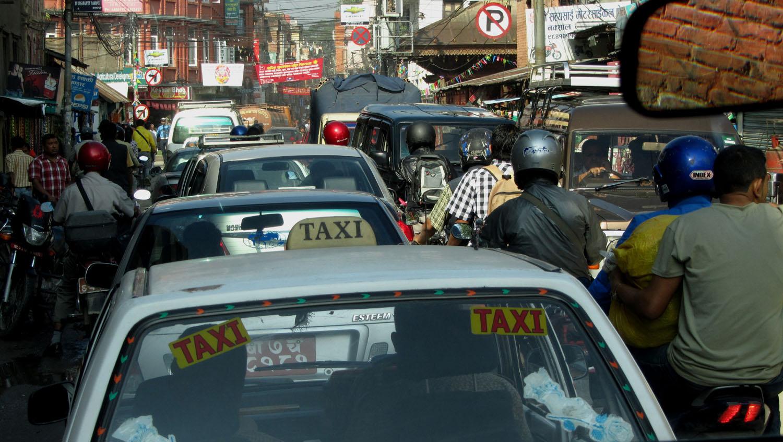 Nepal-Kathmandu-Taxi-Ride