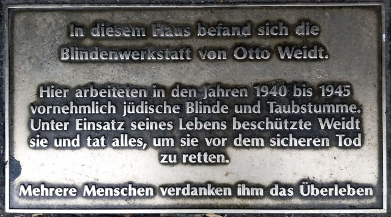 Germany-Berlin-Otto-Weidt-Memorial-Plaque