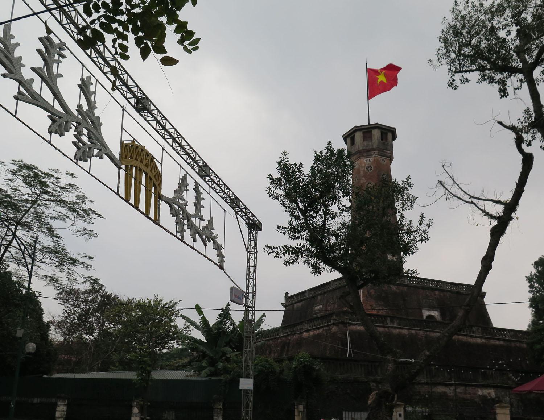 Vietnam-Hanoi-Street-Scenes-Flag-Tower