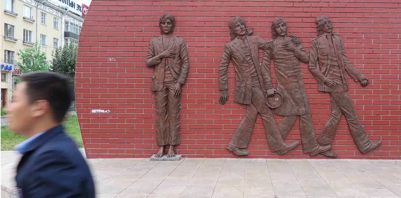 Mongolia-Ulanbator-Street-Scenes-Beatles-Monument