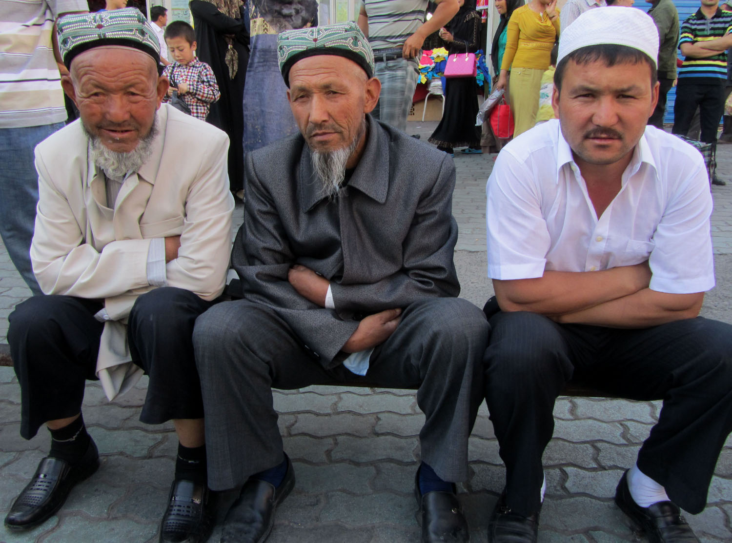 China-Urumqi-Uyghur-Gentlemen