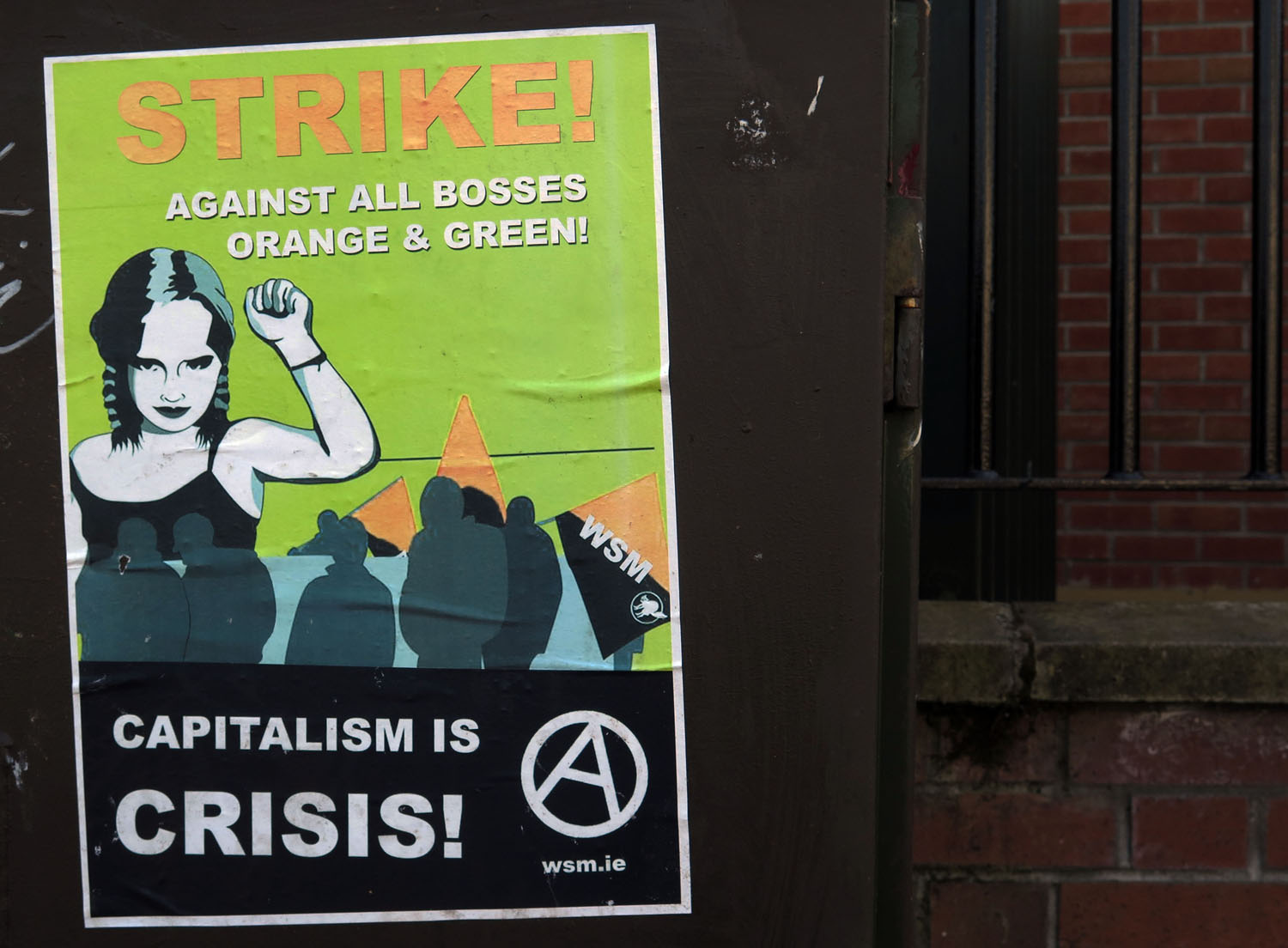 Northern-Ireland-Derry-Londonderry-Street-Scenes-Anarchist-Poster