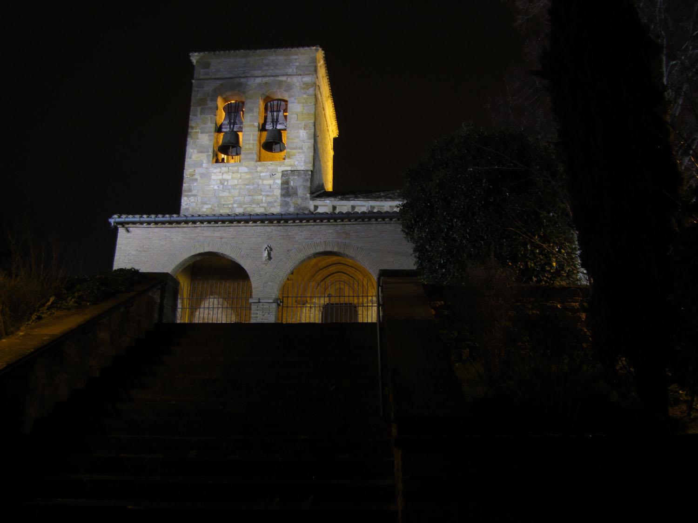 Camino-De-Santiago-Sights-And-Scenery-Church-Night