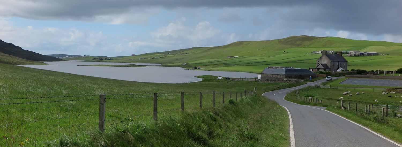 Scotland-Shetland-Driving