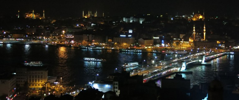 Turkey-Istanbul-Galata-Tower-Night-View-Old- Town