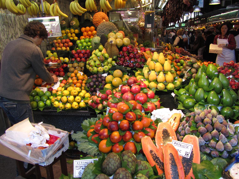 Spain-Barcelona-Market