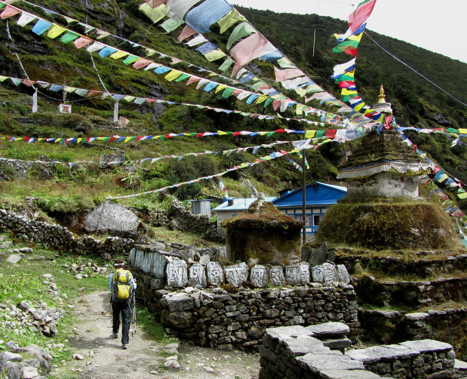 Nepal-Everest-Region-Trek-Day-08-Stupa-Mani-Stones