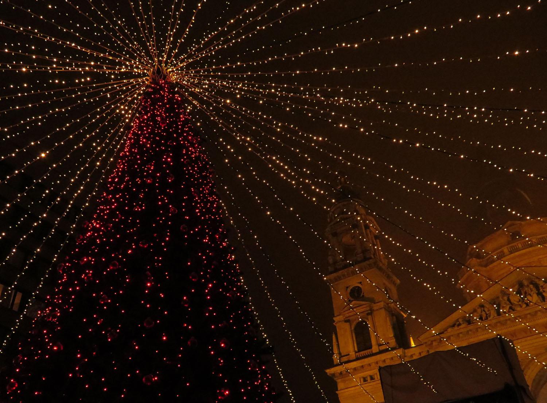 Hungary-Budapest-Christmas-Tree-Basilica
