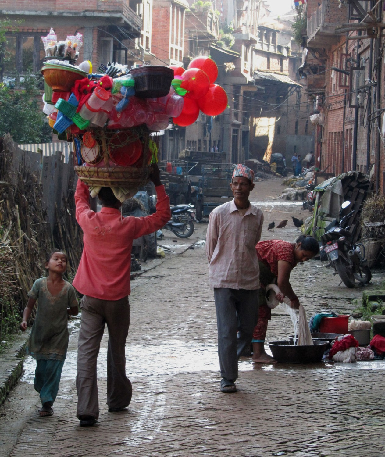 Nepal-Bhaktapur-Street