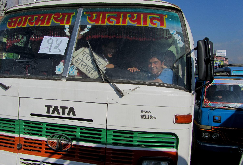 Nepal-Kathmandu-Smiles-Bus
