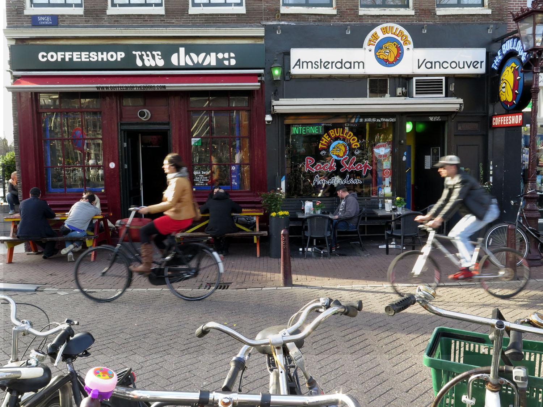 Netherlands-Amsterdam-Coffeeshop-Doors