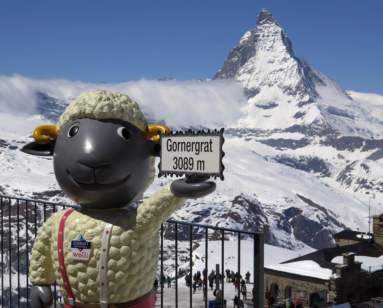 Switzerland-Zermatt-Gornergrat-Altitude-Matterhorn