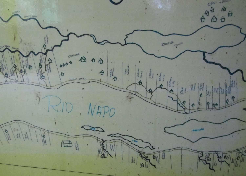 Amazon-Rio-Napo-Map