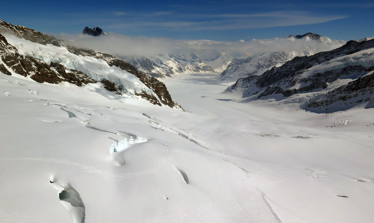 Switzerland-Bernese-Oberland-Jungfraujoch-View-To South