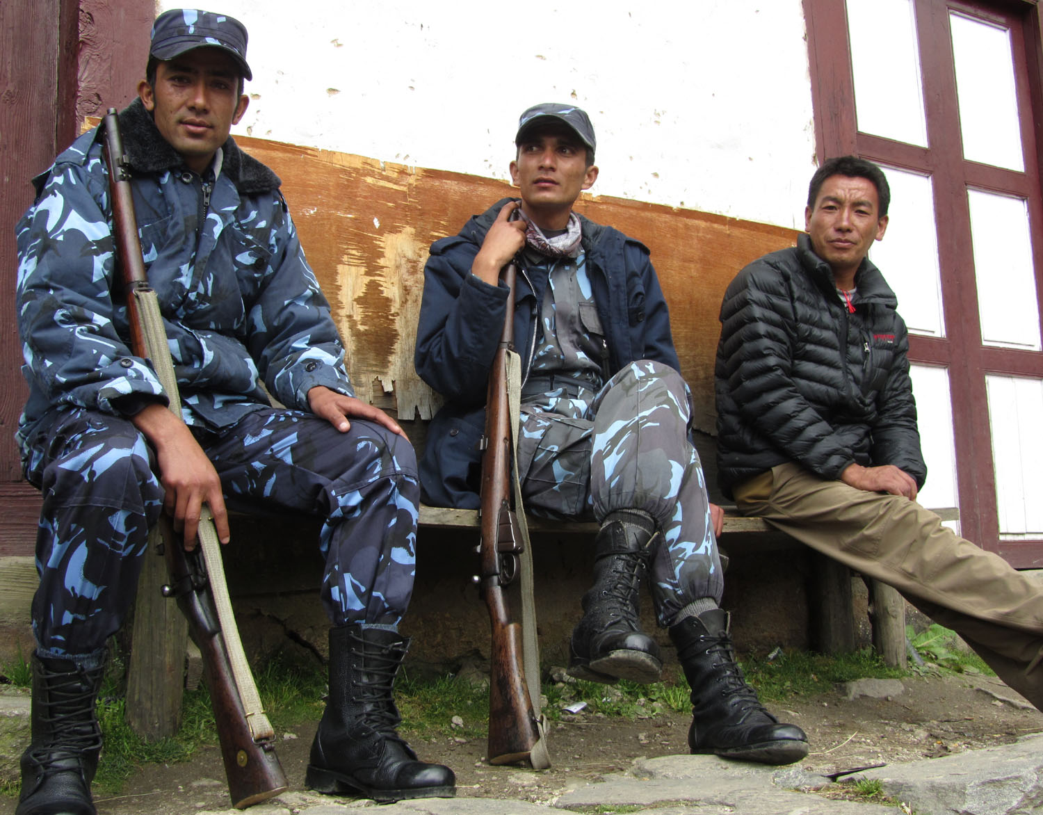 Nepal-Everest-Region-Trek-Day-04-Namche-Soldiers