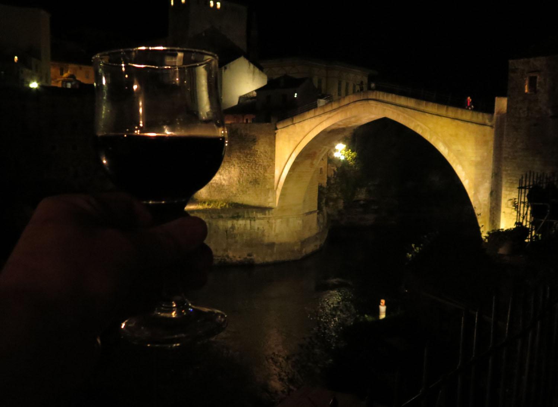 Bosnia-Mostar-Stari-Most-Toast-For-Peace