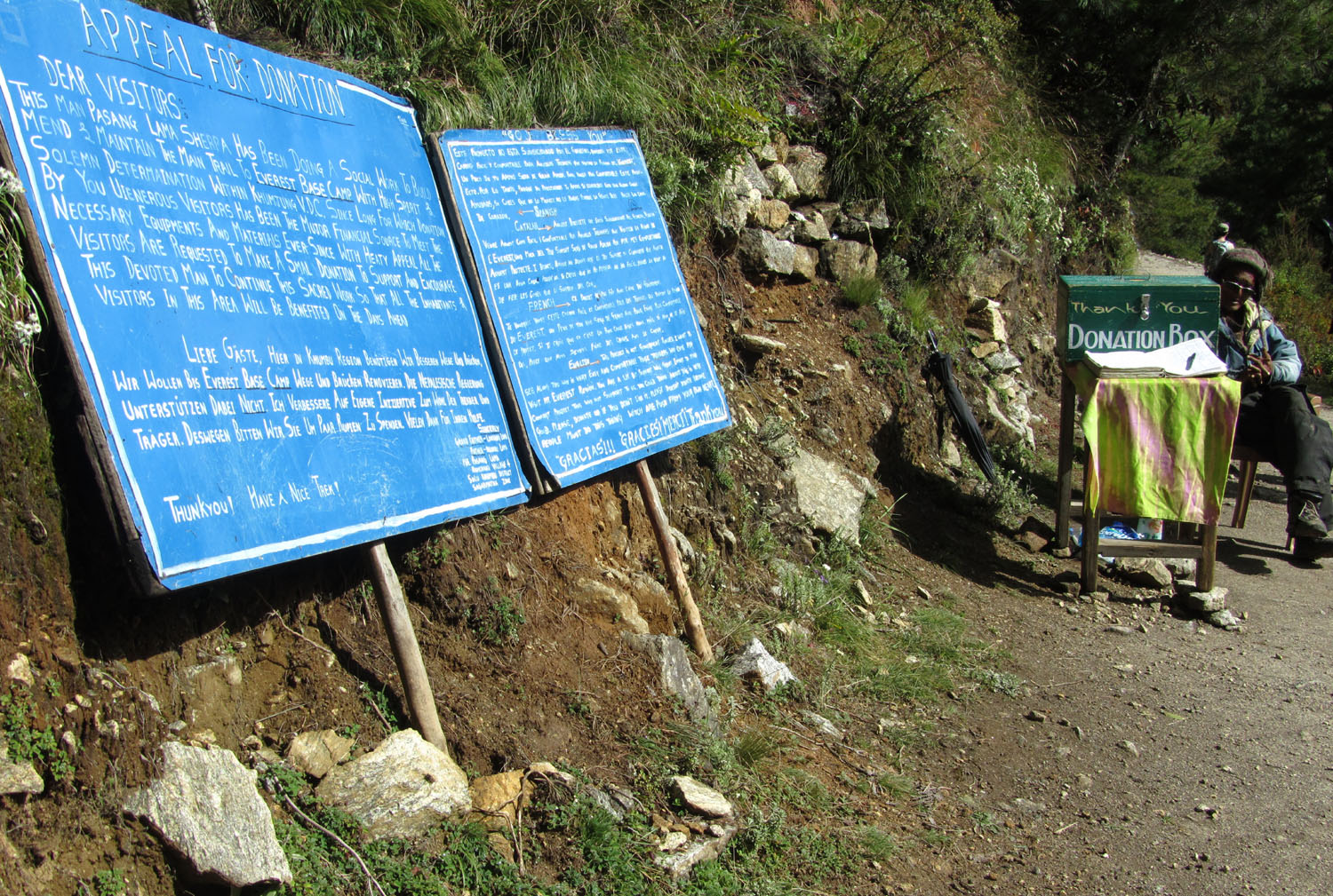 Nepal-Everest-Region-Trek-Day-04-Trail-Donations