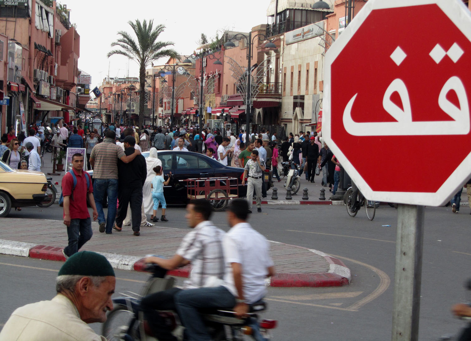 Morocco-Marrakech-Stop-Sign