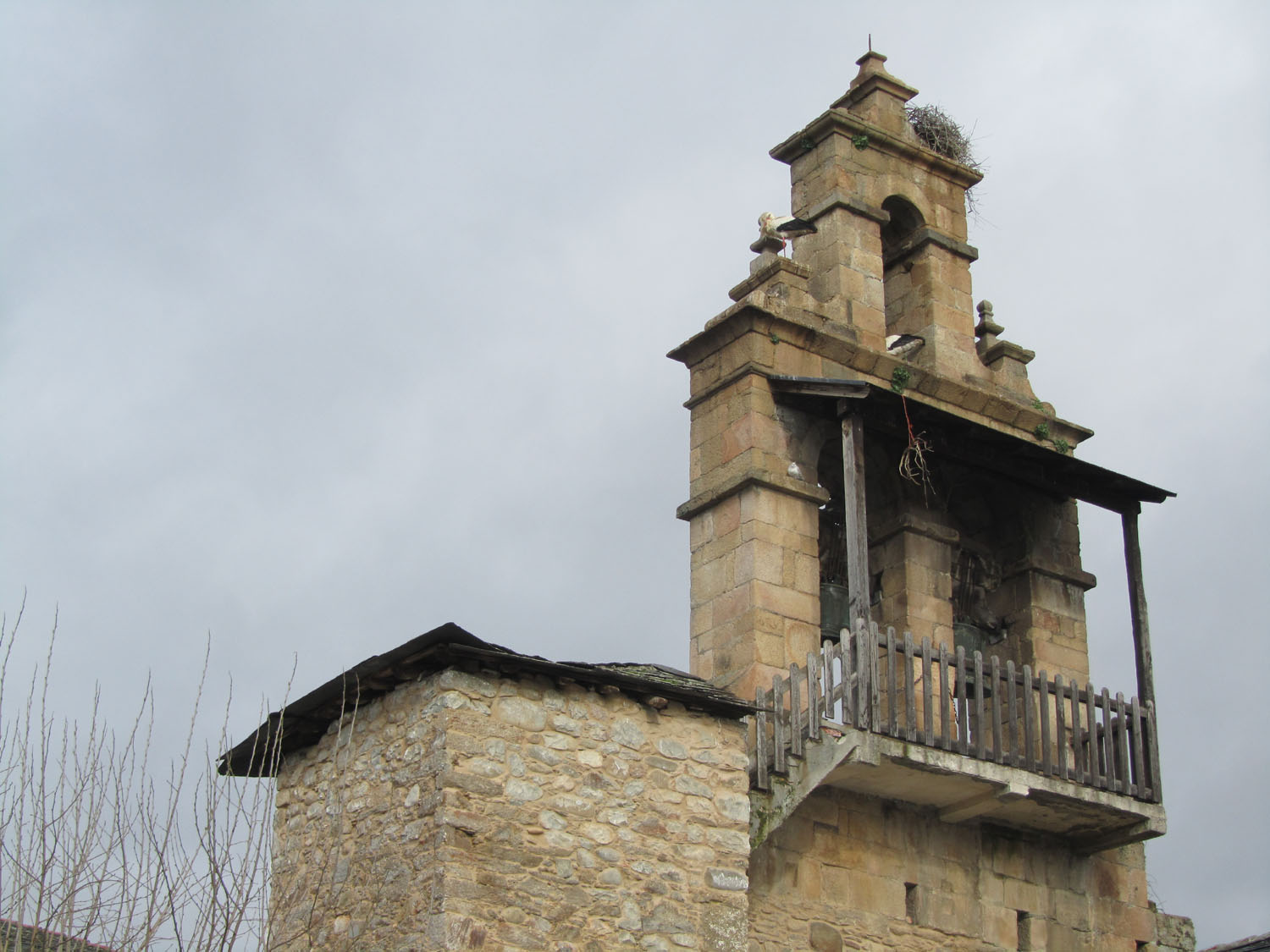Camino-De-Santiago-Sights-And-Scenery-Church-Steeple-Storks