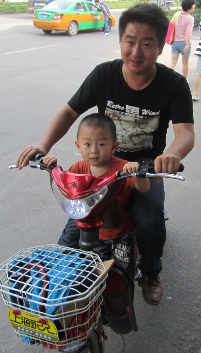 China-Xian-Father-And-Son