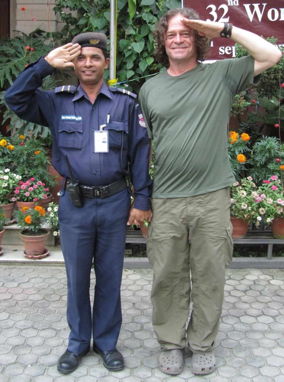 Nepal-Kathmandu-Bodyguard
