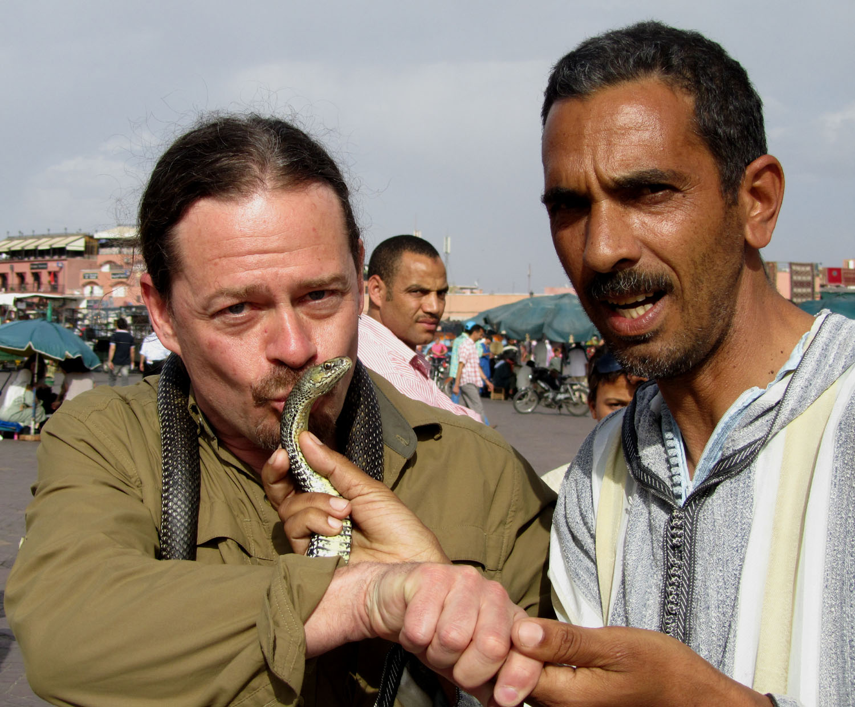 Morocco-Marrakech-Djemaa-El-Fna-Snake-Charmer