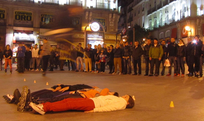 Spain-Madrid-Sol-Skaters