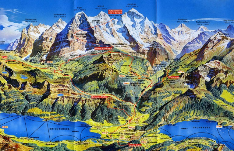 Switzerland-Bernese-Oberland-Map