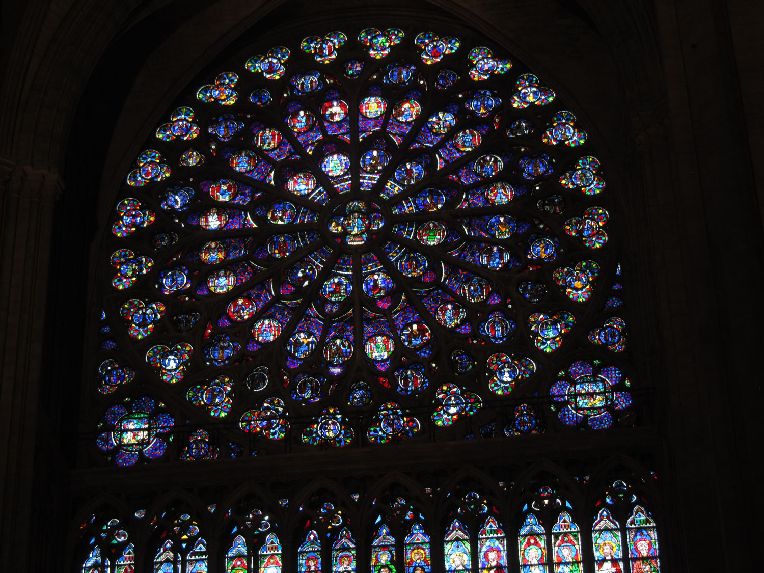 France-Paris-Notre-Dame-Stained-Glass